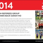 Nepean Referees Group Welcomes Back Sarah Ho
